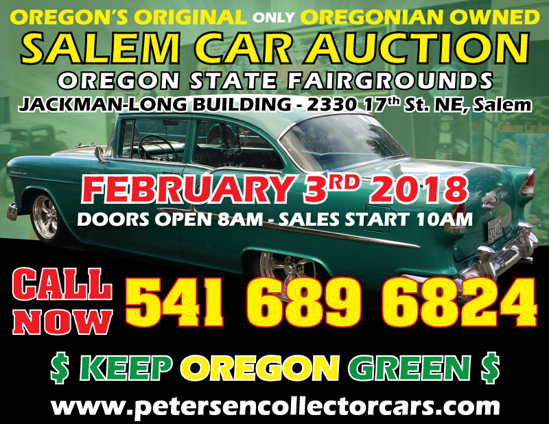 Petersen Collector Car Auctions Oregon | Roseburg Auction July 7