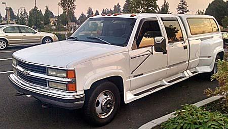 1997 Chevrolet Dually White