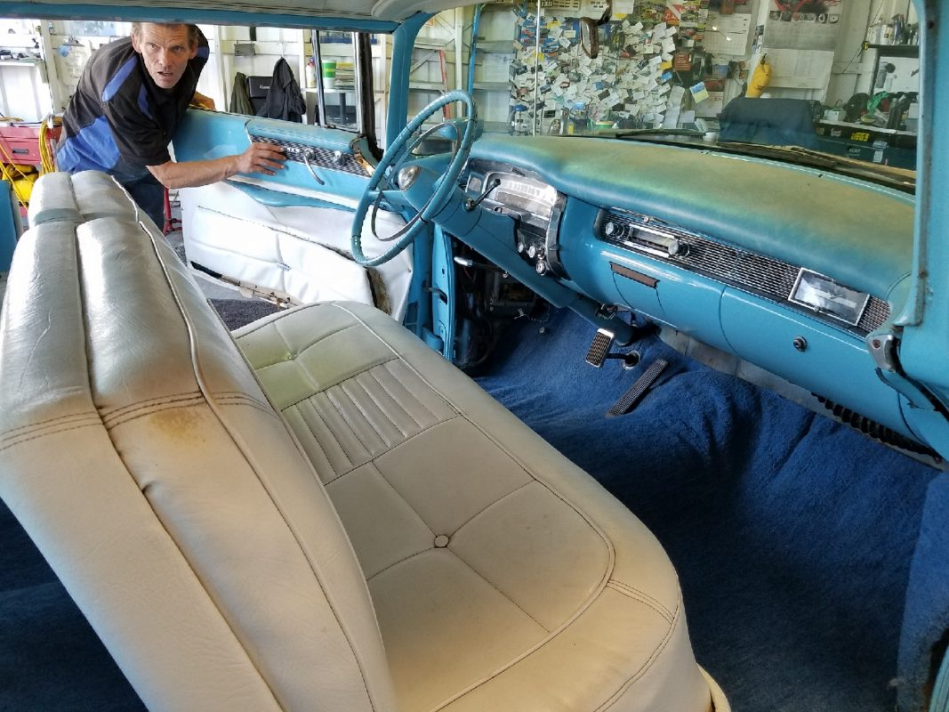 1955 Cadillac 62 Series Robin Egg Blue
