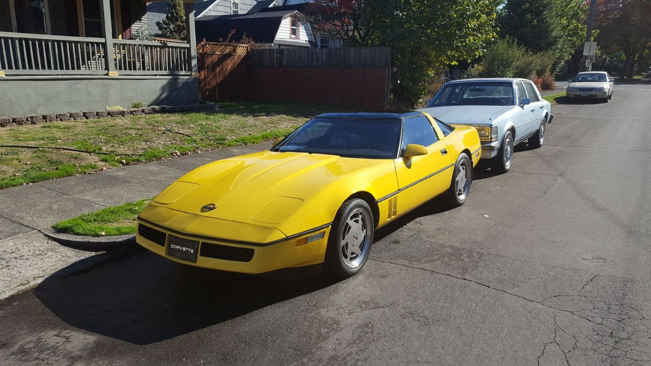 1988 Chevrolet Corvette Yellow