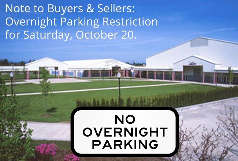 No Overnight Parking Saturday, October 20
