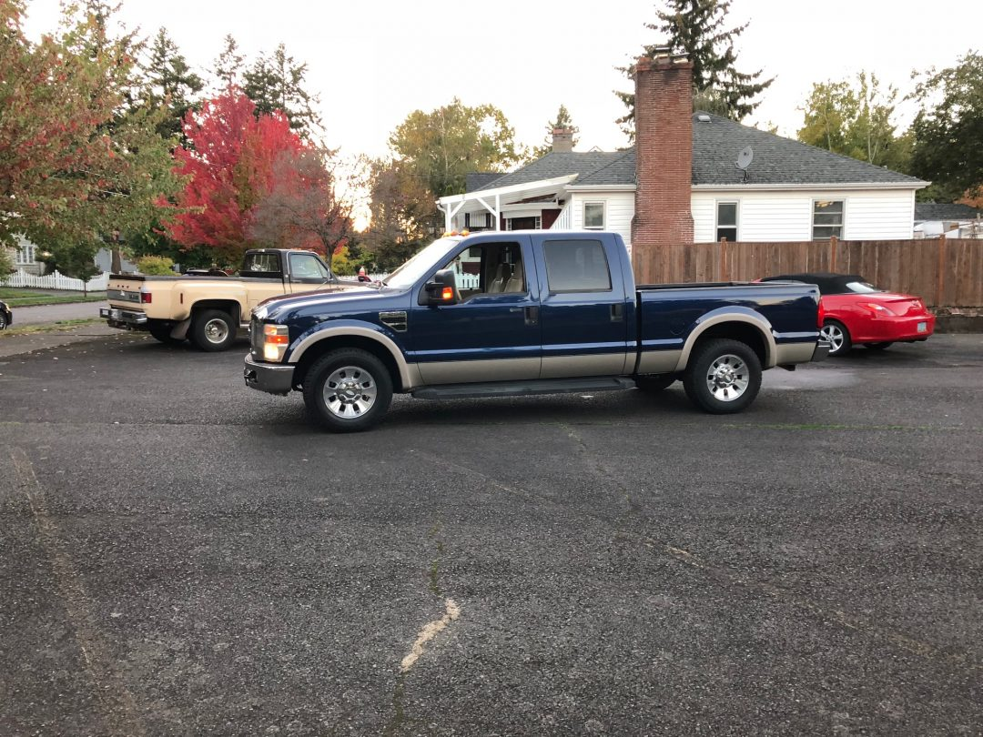 2008 Ford F250 Lariat Crew Cab PU   Dark Blue