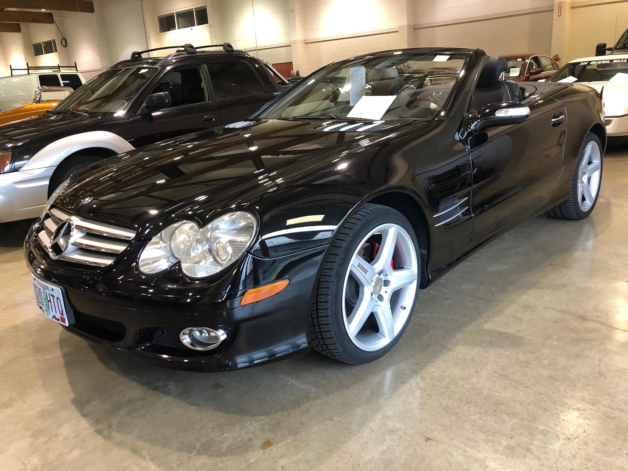 2007 Mercedes Benz 550 SL Black