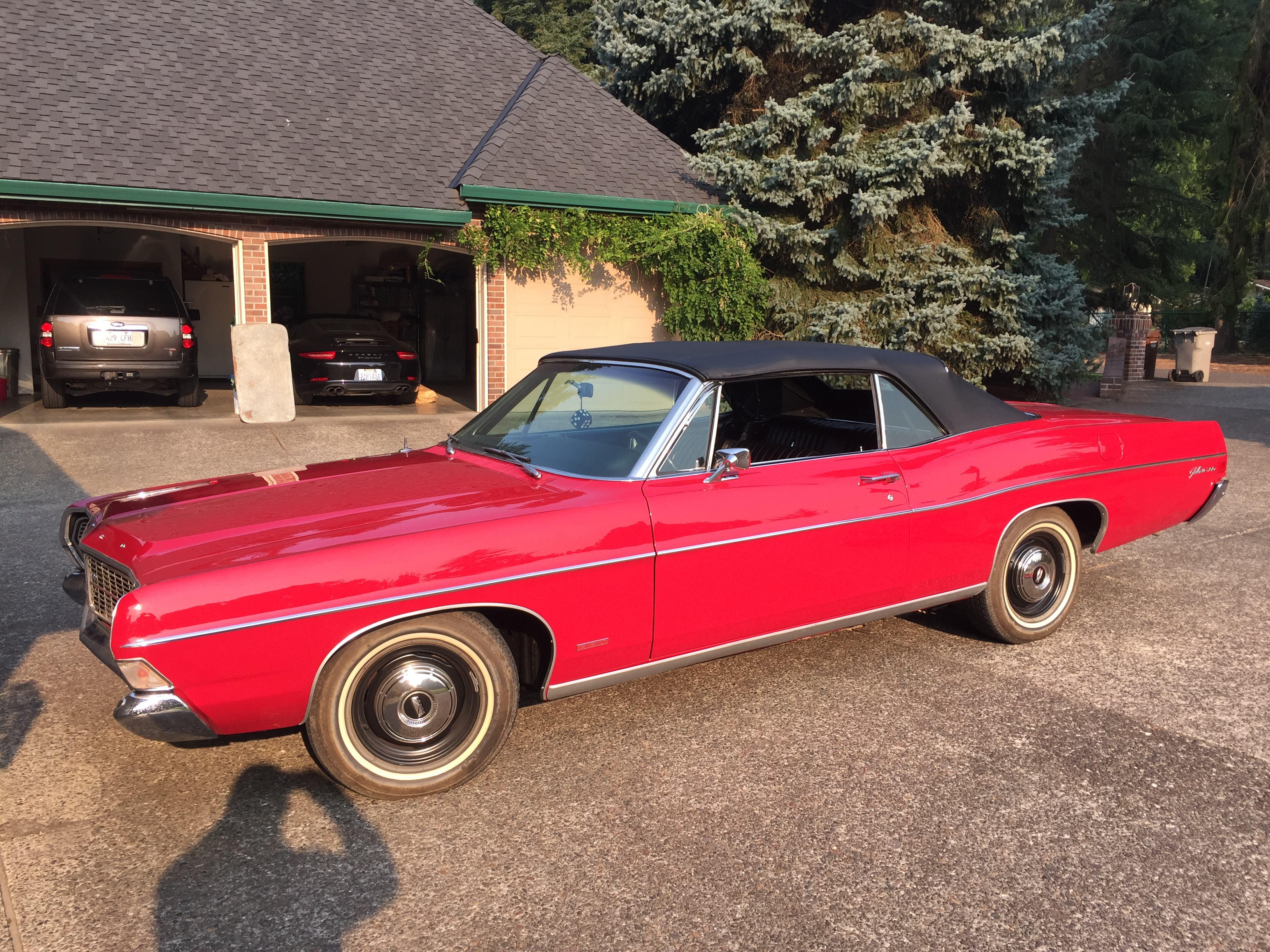 1968 Ford Galaxie Convertible Red