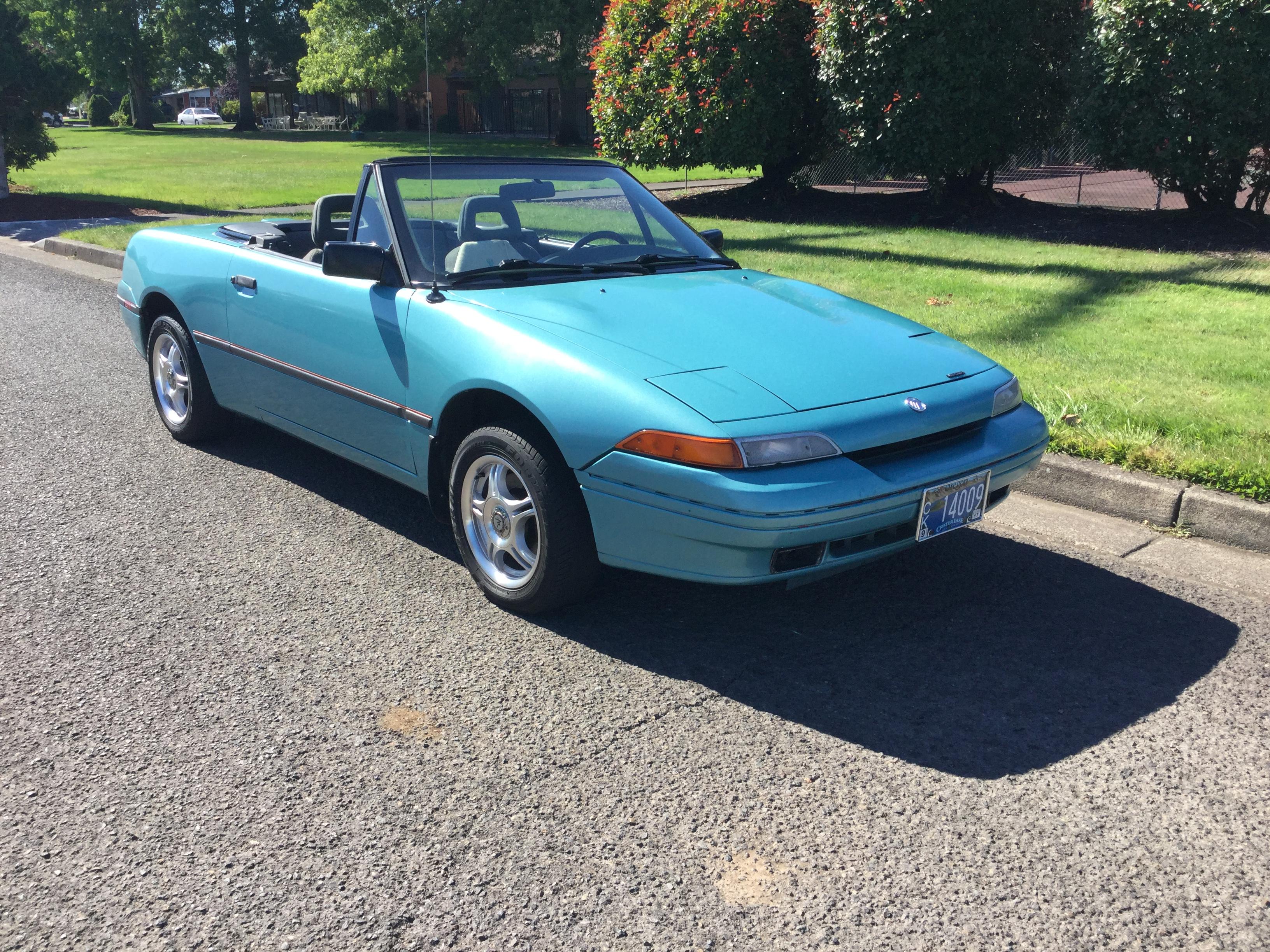 1991 Mercury Capri Convertible Turquoise