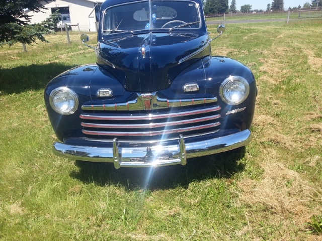 1946 Ford Super Deluxe Coupe   Blue