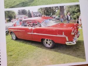 1955 Chevrolet  2 door Bel Air   Candy Tangerine